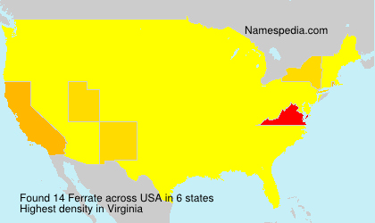 Surname Ferrate in USA