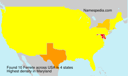 Surname Ferrete in USA