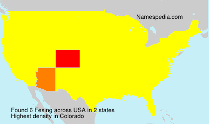 Surname Fesing in USA
