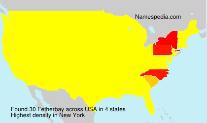 Surname Fetherbay in USA
