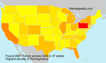 Surname Fetzer in USA
