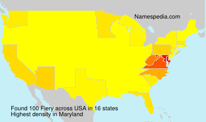 Surname Fiery in USA