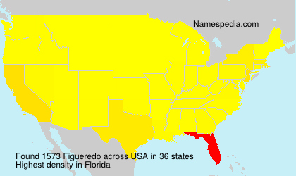 Surname Figueredo in USA