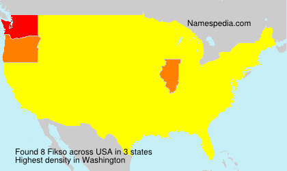 Surname Fikso in USA