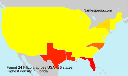 Surname Filizola in USA