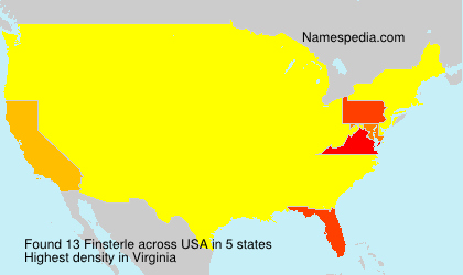Surname Finsterle in USA