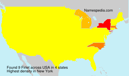 Surname Firlet in USA
