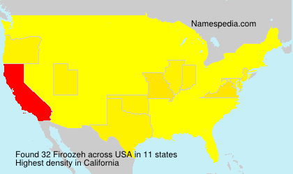 Surname Firoozeh in USA