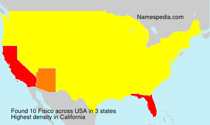 Surname Fisico in USA