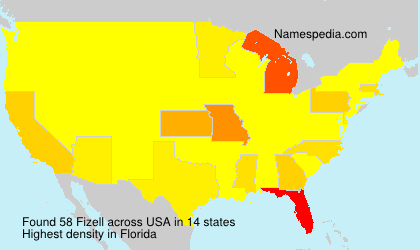Surname Fizell in USA