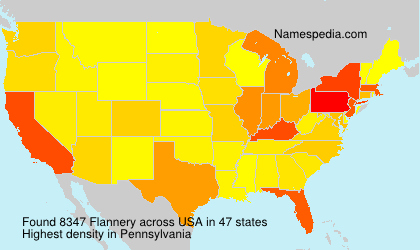 Surname Flannery in USA