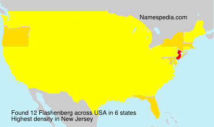 Surname Flashenberg in USA