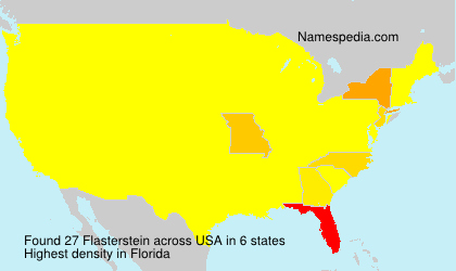 Surname Flasterstein in USA