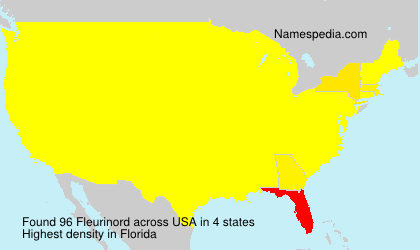 Surname Fleurinord in USA