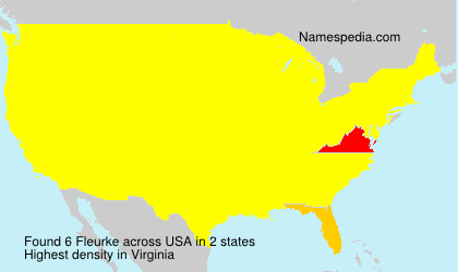 Surname Fleurke in USA