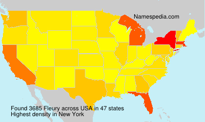 Surname Fleury in USA