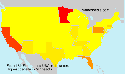 Surname Flod in USA