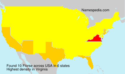 Surname Florse in USA