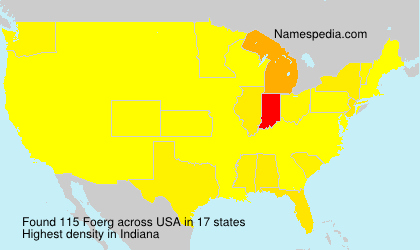 Surname Foerg in USA
