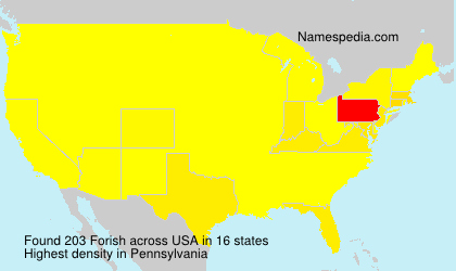 Surname Forish in USA