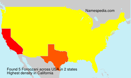 Surname Foroozani in USA