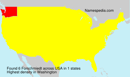 Surname Forschmiedt in USA