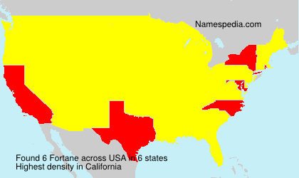 Surname Fortane in USA