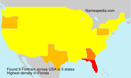 Surname Fortham in USA