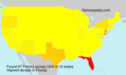 Surname Fortoul in USA