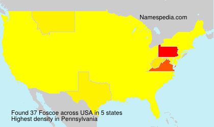 Surname Foscoe in USA
