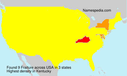 Surname Fraiture in USA