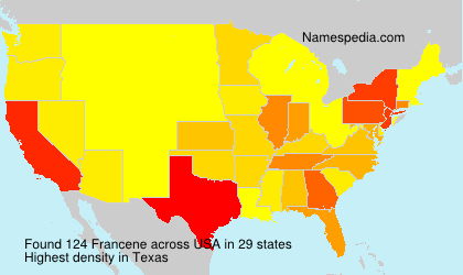 Surname Francene in USA