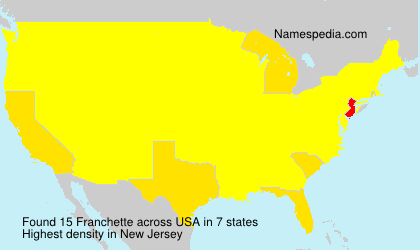 Surname Franchette in USA