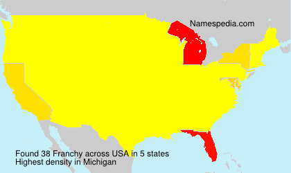 Surname Franchy in USA