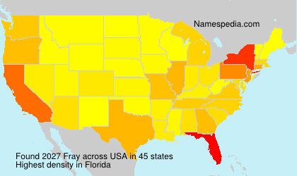 Surname Fray in USA