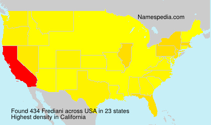 Surname Frediani in USA