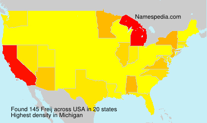 Surname Freij in USA