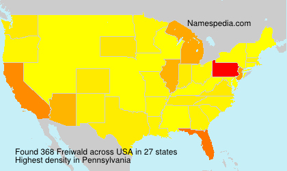 Surname Freiwald in USA