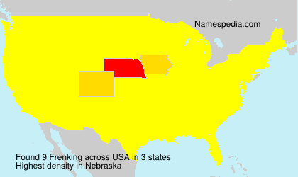 Surname Frenking in USA