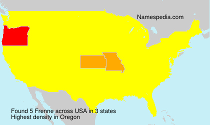 Surname Frenne in USA