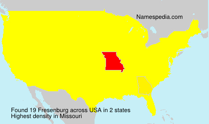 Surname Fresenburg in USA
