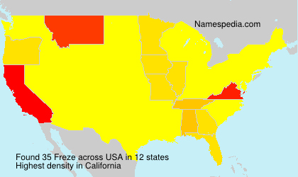 Surname Freze in USA