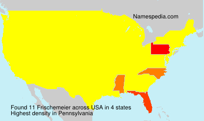 Surname Frischemeier in USA