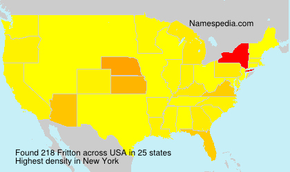 Surname Fritton in USA