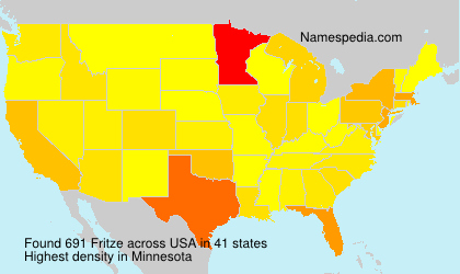 Surname Fritze in USA