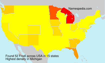 Surname Frodl in USA