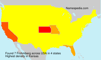 Surname Frohmberg in USA