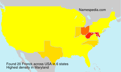 Surname Fronck in USA