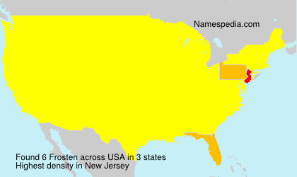 Surname Frosten in USA