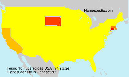 Surname Fucs in USA